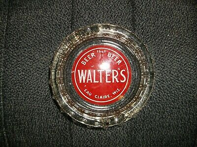 Walter's beer glass advertising ash tray