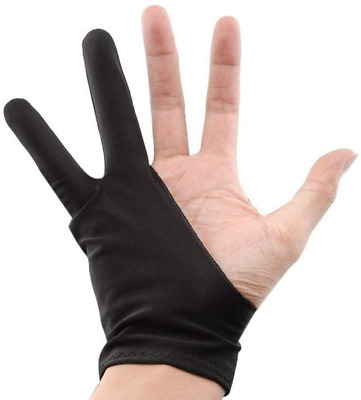 Supvox 2pcs Artist Drawing Anti-Fouling Gloves with Two Fingers for Graphic and