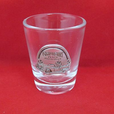 "Cruisin Daytona Beach Pewter & Clear Shot Glass 2 1/4"""" Tall"