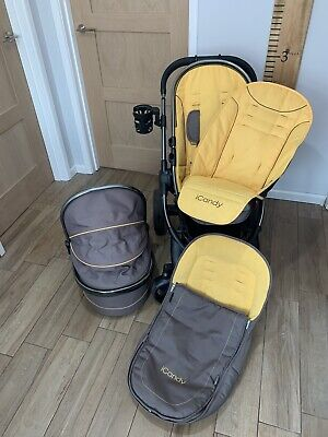 USED iCandy Peach Pushchair Honeycomb / Space Grey Travel System Footmuff Liner