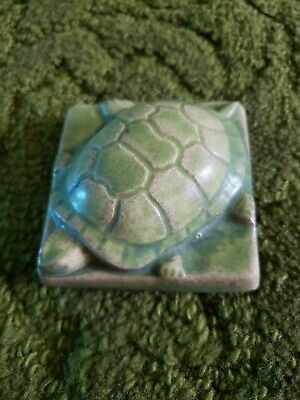 Pewabic Pottery turtle paperweight tile wallhanging Detroit 2007