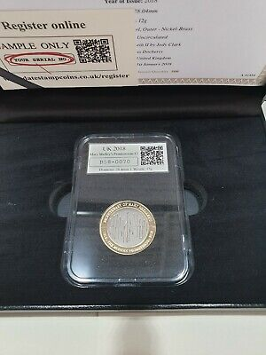 2018 Mary Shelley Frankenstein !! DATESTAMP £2 Two Pound Coin VERY LOW 0070 COA