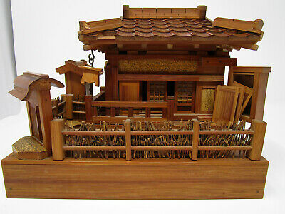 Vintage Antique Japanese Ceremonial Tea House Chashitsu Model Japan