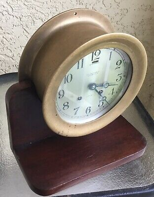 "Antique Chelsea Ship's Bell Clock 6"" Dial Ca.1927"