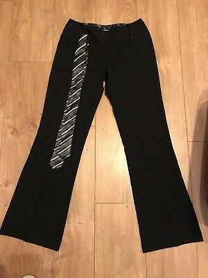 Girl's Tammy black trousers, 100% polyester, 158cm (13 yrs approx) And Belt