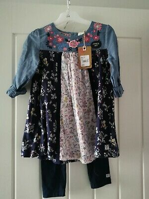 Girls Tunic Top & Leggings Outfit Age 3-4 Yrs Mantaray Debenhams Bnwt