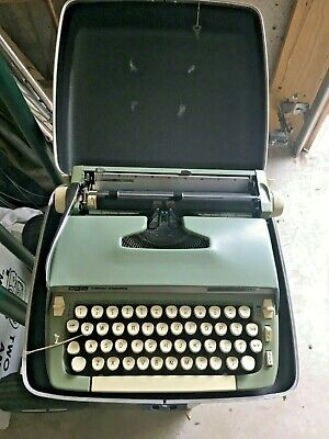 Vintage Smith Corona Scm Super Sterling  Portable Manual Typewriter Working