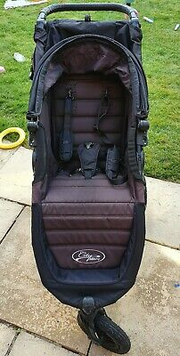 Baby Jogger City Mini GT Single Stroller Black With Rain Cover - Will Courier