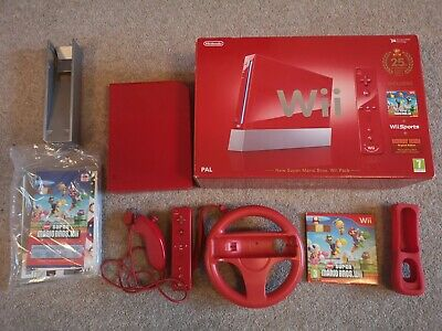 Limited Edition 25th Anniversary Red Nintendo Wii Console & Games Boxed Complete