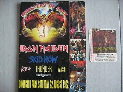 Iron Maiden MONSTERS OF ROCK CONCERT OFFICIAL PROGRAMME & TICKET 1992