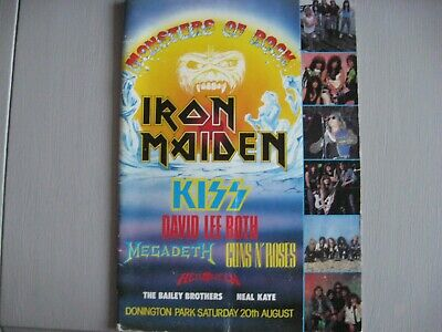 Iron Maiden MONSTERS OF ROCK CONCERT OFFICIAL PROGRAMME 1988