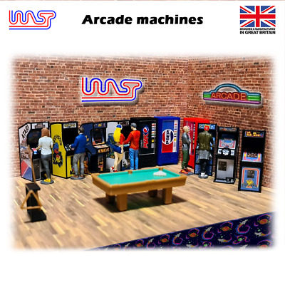 WASP 3D Arcade machine, 1/32 scale, track side, scenery, pub, bar, game, retro