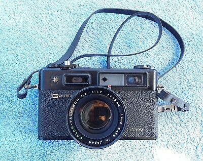Yashica GTN Enectro 35 Rangefinder 35mm film camera with accessories