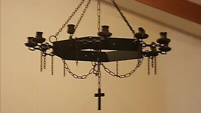 19th Century Gothic Wrought iron Chandelier