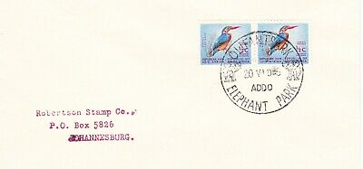 SOUTH AFRICA cover postmarked Elephant Park,  ADDO