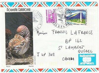NOUVELLE CALEDONIA cover Caledonia Noumea, 1986 - air mail to Canada