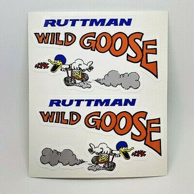 RUTTMAN WILD GOOSE Mini Bike DECALs | Vinyl STICKERs, Left and Right Facing, 4""