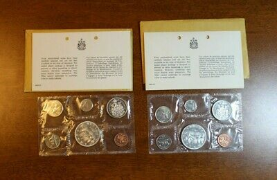 Lot Of Two 1963 Canada Uncirculated Sets From Canadian Mint With Envelopes