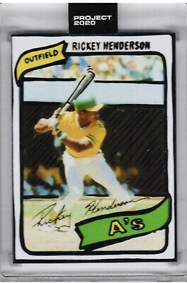 Topps Project 2020-#14 Rickey Henderson 1980 Topps RC By Joshua Vides PR:1,221