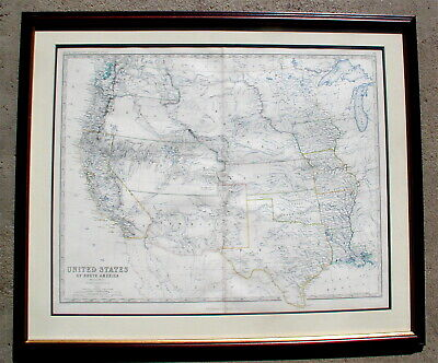 United States of North America Western States Keith Johnston Map 1861