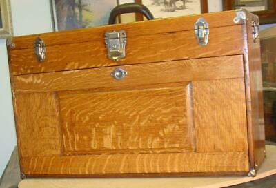 Vintage 26 inch 11 drawer GERSTNER Tiger Oak Chest, a 052 Unit,Restored. Superb