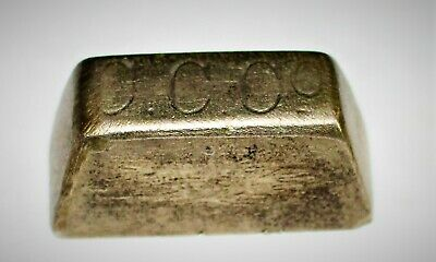 ANTIQUE SMALL BRASS SCALE WEIGHT / C C Co / 1879