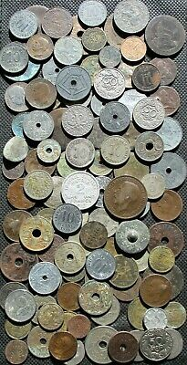 Huge Lot Old Coins Of Europe (Germany France Sweden Russia Poland) - Mix 875