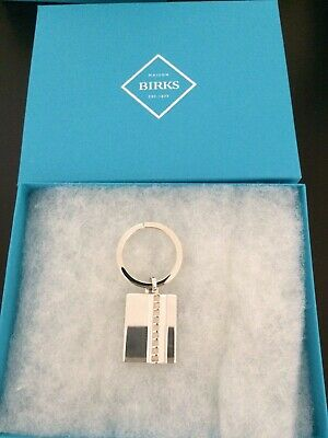 Authentic Birks Sterling Silver Keychain with Box - Retail: $198
