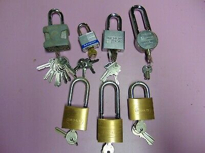 7  Mix  Padlock With Keys     Locksmith