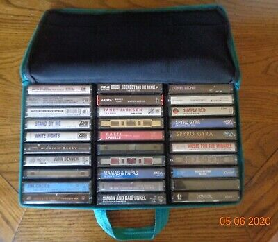 Lot of 30 Rock And Soundtrack Cassette Tapes In Case Logic Bag