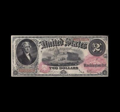 Rare 1878 $2 Legal Tender Strong Very Fine