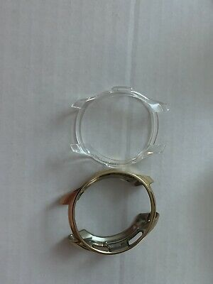 2 Plastic Watch Protectors For Samsung Galaxy watch Gold&Clear