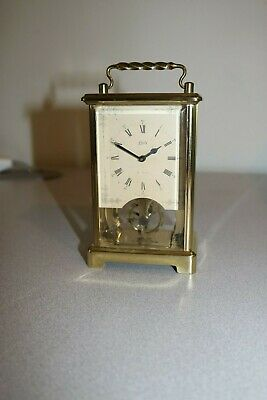 Antique Rare Aug.schatz  8 Day Brass Carriage Clock - In Working Condition