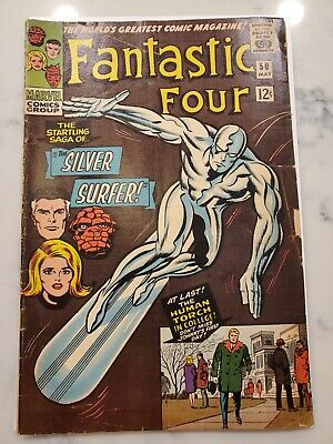 Fantastic Four #50 Marvel 1966 Silver Surfer Battles Galactus Good/VG