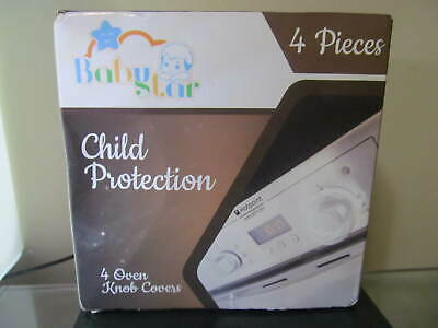 Nib Babystar Oven Knob Covers 4 Pieces Child Protection