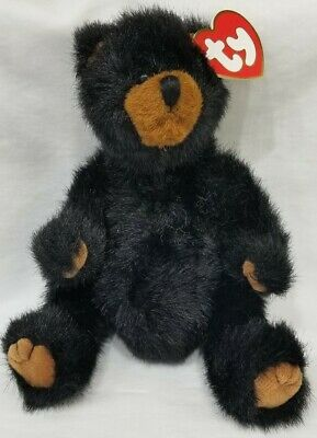 Ty Attic Treasures - IVAN the black bear - with jointed limbs - MWMT - 1993