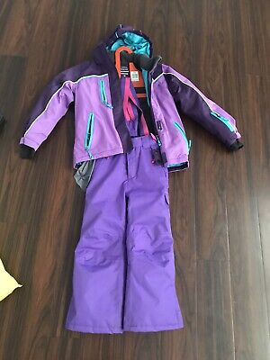 CRANE Girls Snow Clothes Jacket And Pants Size 8 And 6