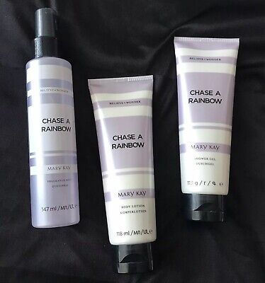 NEW Mary Kay Chase a Rainbow Set: Shower Gel, Body Lotion And Fragrance Mist