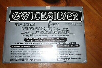 Qwicksilver Self Acting Electrolytic Plate. Cleans most metals