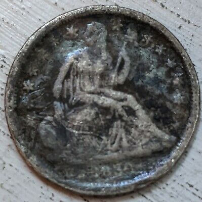 1839 Seated Liberty Dime AG Coin