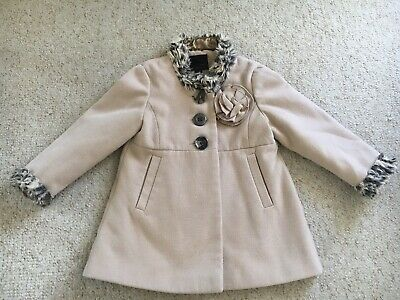 Girls Age 3-4 Beige Coat From Next