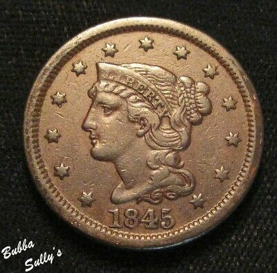 1845 Braided Hair Large Cent <> FINE