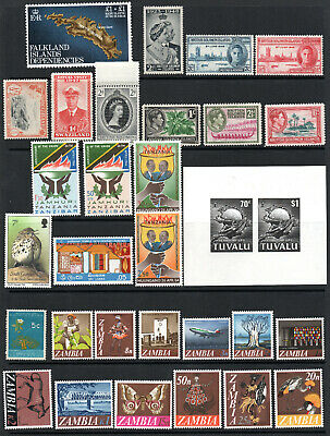 COMMONWEALTH - Zambia - Tuvalu - Selection X 31 M/Mint Stamps.
