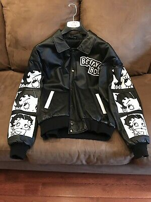 ♡  Vintage Betty Boop Leather Jacket Womens Size Large