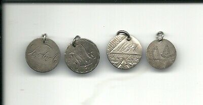 Lot of 4 old Canadian Love Tokens