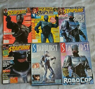 Six Robocop Cover Film Magazines Lot Starlog Starburst