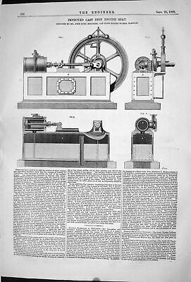 Old 1868 Improved Cast Iron Engine Seat Machinery John Duff Oak Bank Victorian