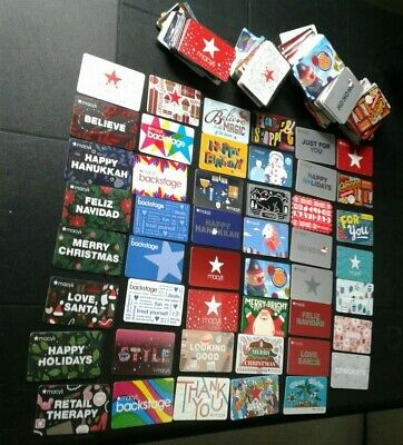 Three Hundred (300) MACY'S Gift Cards NEW Collectible, Mint, Assorted