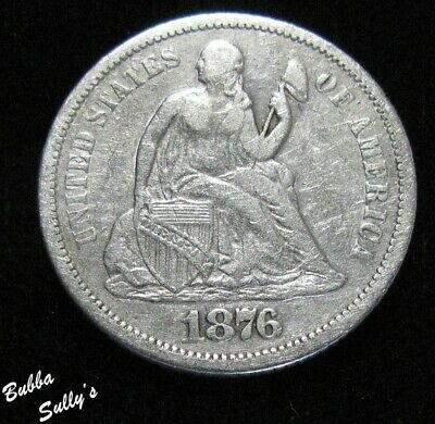 1876 S Seated Liberty Dime <> VF Details