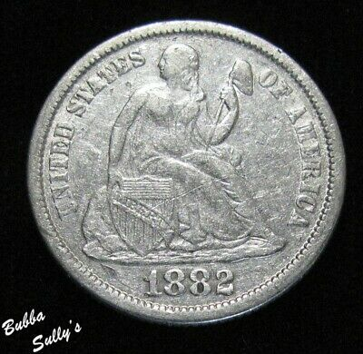 1882 Seated Liberty Dime <> VF Details